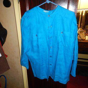 Giorgio Armani Size 42 blouse blue Italy